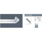 Плинтус потолочный гладкий NMC LX-105 (C) /105мм