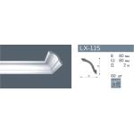 Плинтус потолочный гладкий NMC LX-115 (GO) /110мм