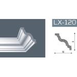 Плинтус потолочный гладкий NMC LX-120 (GR) /120мм