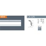 Плинтус потолочный гладкий NMC LX-125 /100мм