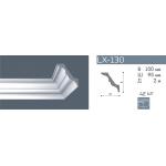 Плинтус потолочный гладкий NMC LX-130 (AT) /140мм