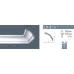 Плинтус потолочный гладкий NMC LX-135 (GP) /140мм