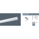 Плинтус потолочный гладкий NMC LX-30 (MP)