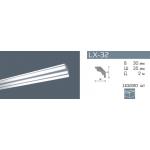 Плинтус потолочный гладкий NMC LX-32 (MK)