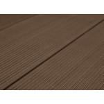 Террасная доска из ДПК (декинг) «SaveWood Salix», тёмно-коричневая 4 м