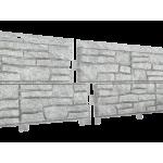 Сайдинг виниловый Ю-пласт, коллекция «Стоун Хаус», сланец Светло-серый