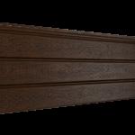 Софит Ю-Пласт PRO Орех темный Полностью перфорированный  (3000х300мм)