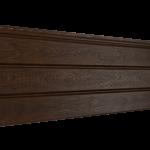 Софит Ю-Пласт PRO Орех темный Частично перфорированный  (3000х300мм)