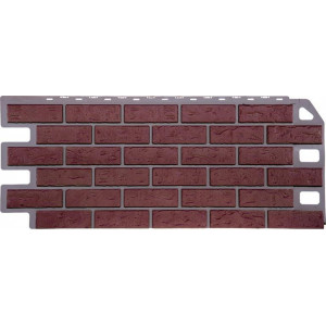 Фасадная панель FineBer, кирпич красный