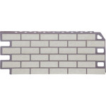 Фасадная панель FineBer, кирпич мелованный белый