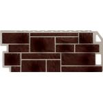 Фасадная панель FineBer, камень коричневый