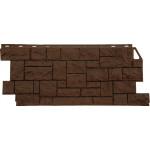 Фасадная панель FineBer, дикий камень коричневый