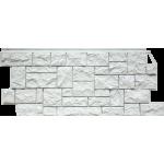 Фасадная панель FineBer, дикий камень мелованный белый