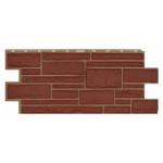 Фасадная панель T-Siding Дикий Камень Красный 1090х455 мм