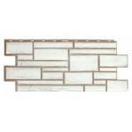 Фасадная панель T-Siding Дикий Камень Белый 1090х455 мм
