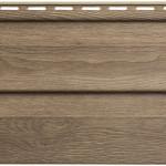 Виниловый сайдинг Альта - Профиль коллекция ЛЮКС(КАРЕЛИЯ) Орех 0,69 м