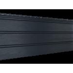 Софит графитовый 0,9 м, тройной, без перфорации, виниловый софит для крыши Ю-Пласт (0,3х3000мм.)