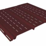 коричневый 0,9 м, тройной, полной перфорации, виниловый софит для крыши Ю-Пласт (0,3х3000мм.)