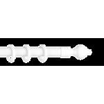 Карниз 'Кантри' Белый мет/пл. 2-х рядный 'Ле-Гранд'