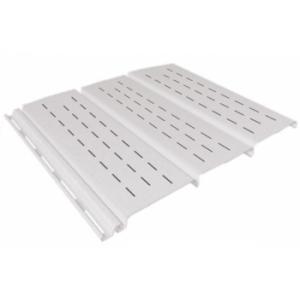 белый 0,9 м, тройной, полной перфорации, виниловый софит для крыши Ю-Пласт (0,3х3000мм.)