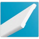 Наличник пластиковый 001 Белый Идеал (вспененный) 2200мм.