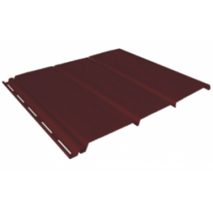 коричневый 0,9 м, тройной, без перфорации, виниловый софит для крыши Ю-Пласт (0,3х3000мм.)
