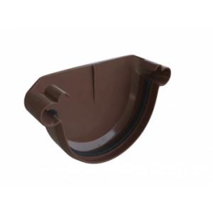 заглушка Желоба, коричневый, водосточная система Альта-Профиль (элит)