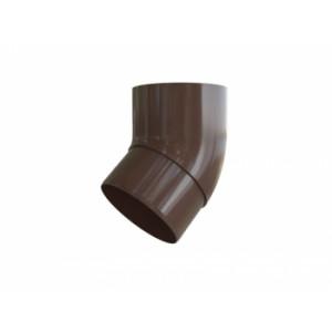 Водосточная система Альта-Профиль (Элит) колено трубы 45°, коричневый