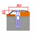 Порог-кант (30мм) алюминиевый Ясень