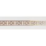 Бленда дек. Амулет 'Белый глянец/золото' карниза 'Ле-Гранд' 7 см.