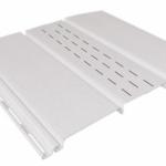 белый 0,9 м, тройной, 1/3 перфорации, виниловый софит для крыши Ю-Пласт (0,3х3000мм.)