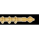 Карниз для штор 'Кантри' Дуб Ясный мет/пл. 2-х рядный 1.6 м