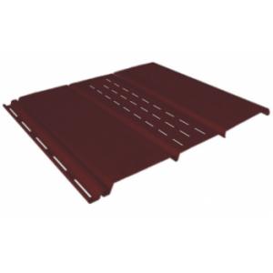 коричневый 0,9 м, тройной, 1/3 перфорации, виниловый софит для крыши Ю-Пласт (0,3х3000мм.)
