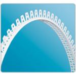 Профиль универ. Угол штукатурный ПВХ Белый АШ (арочный) 25х25х3000мм IDEAL