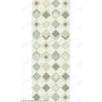 Глянцевая панель «Век», фотопечать, лотос зелёный (ромбы)