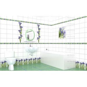 Глянцевая панель «Век», фотопечать, ирис (вставка #2, левая + правая)